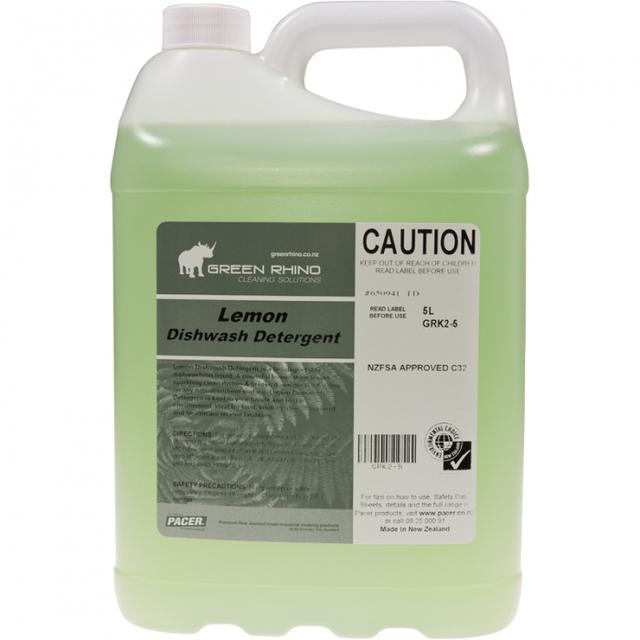 Dishwashing Detergent Lemon 5Litres - Green Rhino