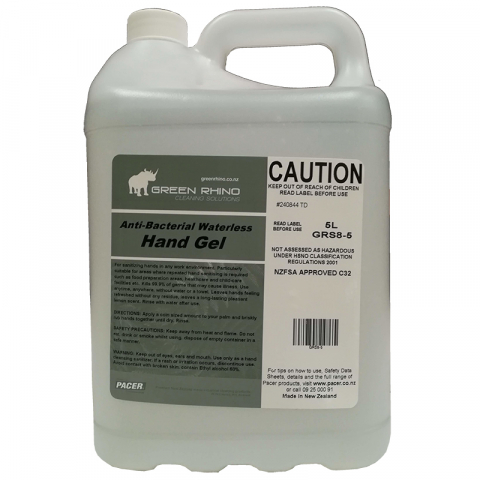 Hand Sanitiser Alcohol Gel - Green Rhino