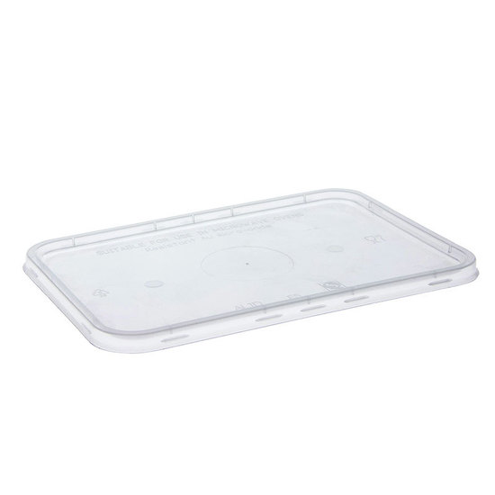 Rectangle Lid to suit 500ml to 1000ml PP - Uni-Chef