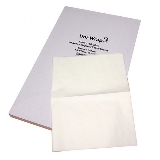 Greaseproof Paper Sheets 480mm x 750mm - Uni-Pak