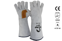 Welders Glove Grey & Gold  - Esko Grey Wolf