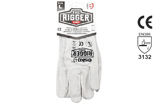 Leather Rigger Glove Premium Cowhide Header Card 2X-LARGE - Esko The Rigger