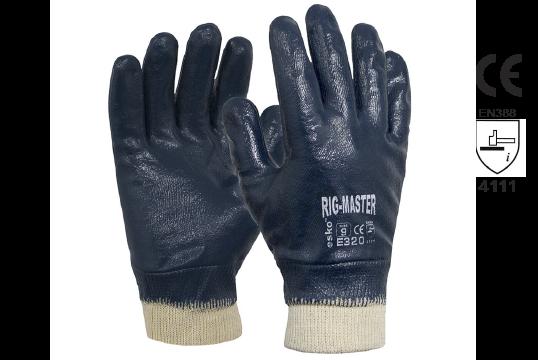 Nitrile Full Dip Glove, Size 11 - Esko Rig-Master