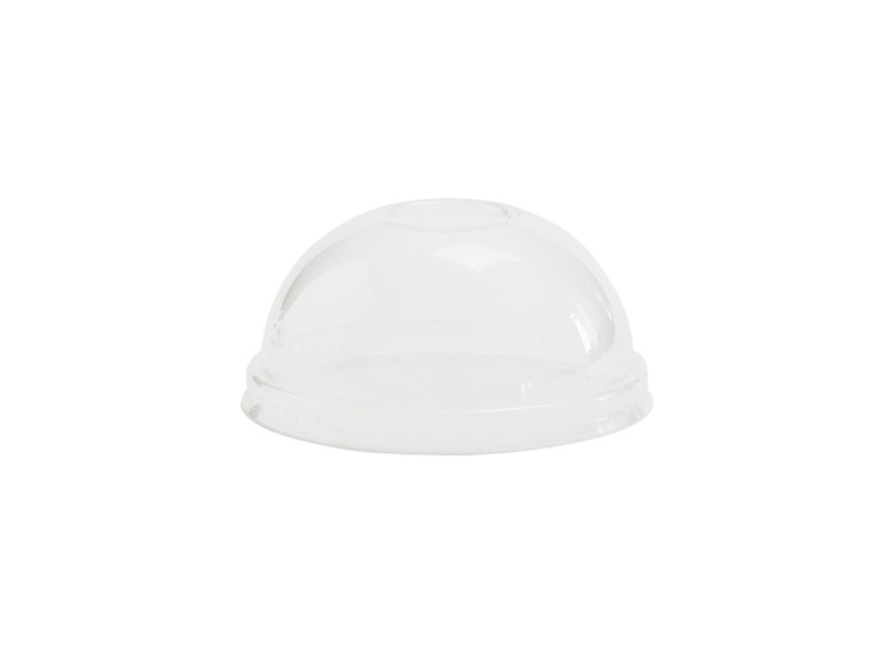 Hot/Cold Container Dome Lid 90mm (Fits 6-10oz) - Pack or Carton