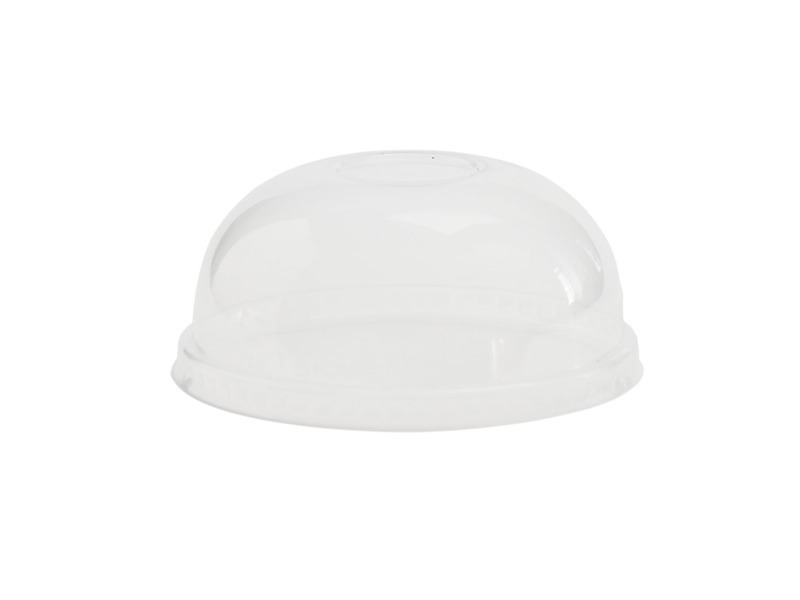 Hot/Cold Container Dome Lid 115mm (Fits 12-32oz) - Vegware - Pack or Carton