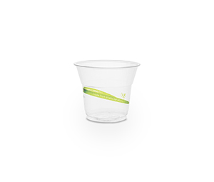 Cold Cup PLA Slim 5oz 150ml Green Stripe - Vegware