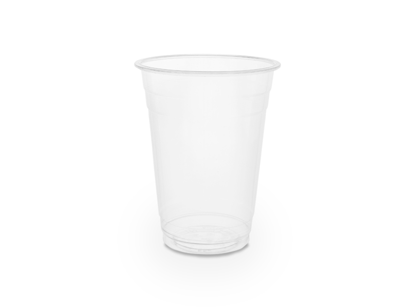 Cold Cup PLA Standard 16oz 500ml - Vegware - Pack & Carton