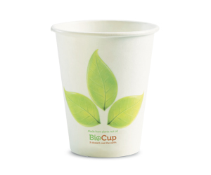 8oz Coffee Cups Leaf (80mm) Single Wall - BioPak