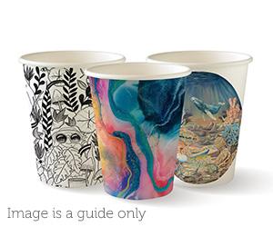 8oz Coffee Cups Art Series (90mm) Single Wall - BioPak