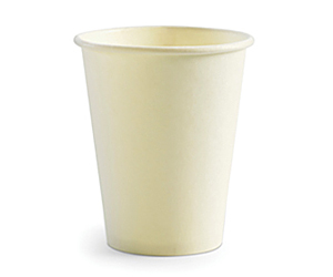 8oz Coffee Cups White (80mm) Single Wall - BioPak
