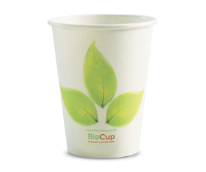12oz Coffee Cups Leaf (90mm) Single Wall - BioPak