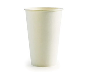 16oz Coffee Cups White (90mm) Single Wall - BioPak