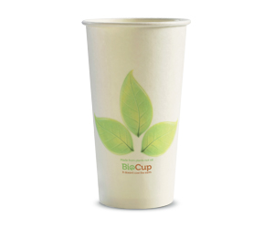20oz Coffee Cups Leaf (90mm) Single Wall - BioPak