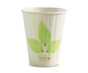 8oz Coffee Cup Leaf (80mm) Double Wall - BioPak