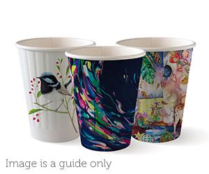 8oz Coffee Cup Art Series (80mm) Double Wall - BioPak