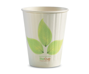 12oz Coffee Cup Leaf (90mm) Double Wall - BioPak