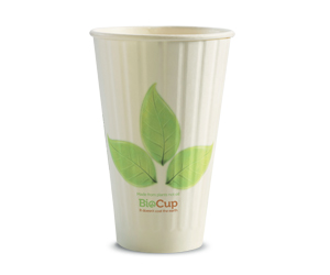 16oz Coffee Cups Leaf (90mm) Double Wall - BioPak
