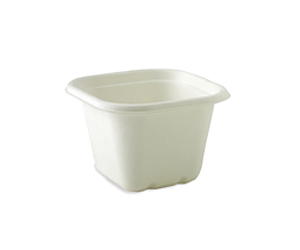 Takeaway Container Base White 630ml BioCane - BioPak