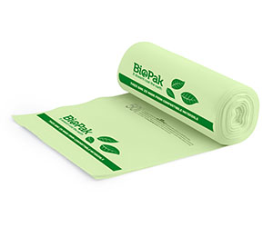 240L Bin Liner Green - BioPlastic