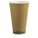 Hot Paper Cup Kraft Green Stripe 16oz - BioPak