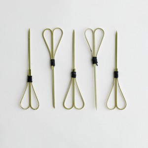 Looped Heart Bamboo Skewer 12cm - Epicure