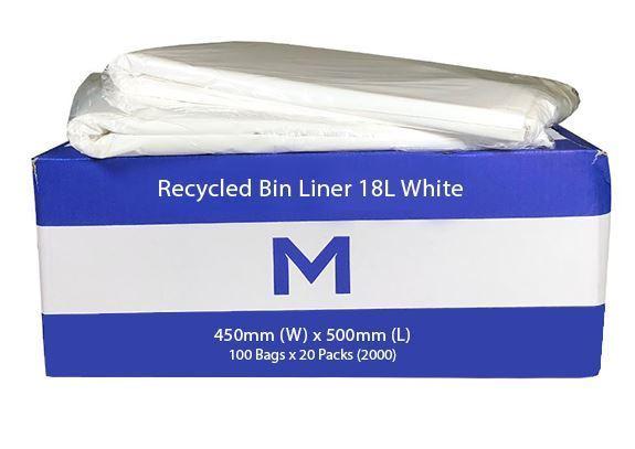 Office Bin Liner Small 18L White - Matthews