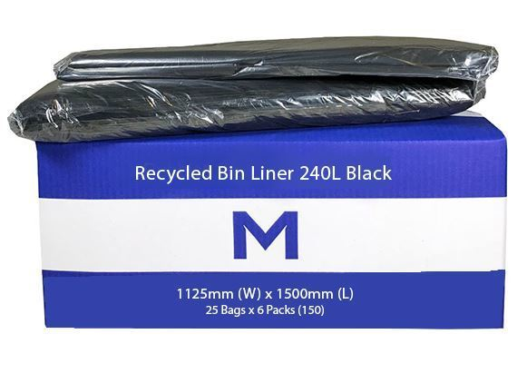 Large Wheelie Bin Liner 240L Black - Matthews