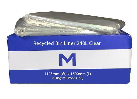 Large Wheelie Bin Liner 240L Clear - Matthews