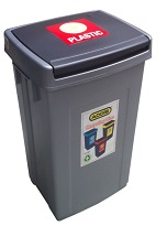 Bin Recycling Red for Plastic
