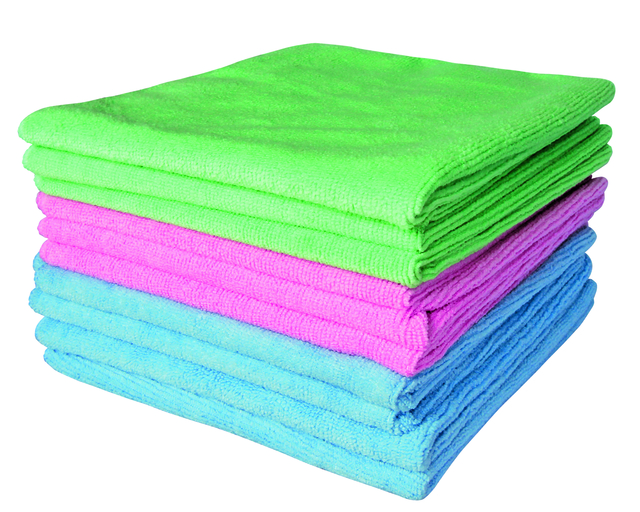 Microfibre Cloth Pack 10 Multi Colours