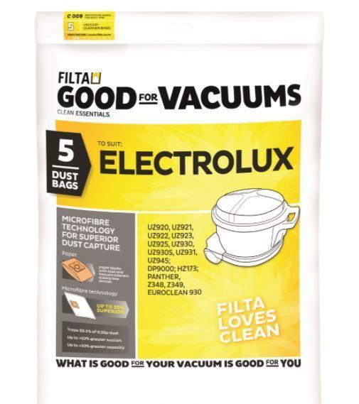 LUX UZ930 MICROFIBRE VACUUM CLEANER BAGS 5 PACK - Filta