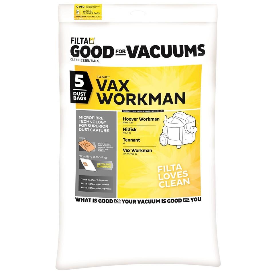 Vax Workman 5 Pack Vacuum Cleaner Bags