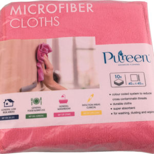 Microfibre Cloth 40x40cm Pink - PureEn