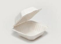 Clam Tray Sugar Cane 14x14cm - Vegware