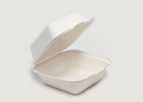 Clam Tray Sugar Cane 15x15cm - Vegware - Pack & Carton