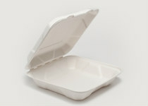 Clam Tray Sugar Cane 23x23cm - Vegware - Pack & Carton