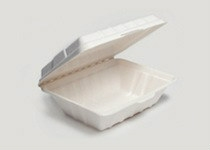 Clam Tray Sugar Cane 18x14cm - Vegware - Pack & Carton