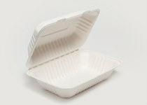 Clam Tray Sugar Cane 23x15cm - Vegware - Pack & Carton