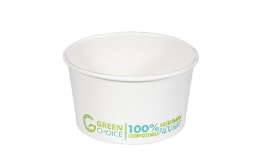 Dessert Tub WHITE PLA - 12oz Carton  1000    - Green Choice