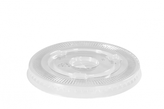 Flat Lid Clear Cup PLA - 95mm DIA Carton 1000   - Green Choice
