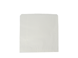 Kraft Flat Bag White recycled 178x178mm - Vegware
