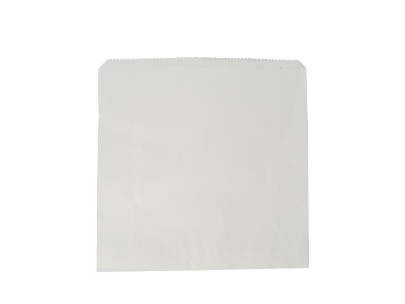 Kraft Flat Bag White recycled 216x216mm - Vegware