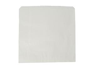 Kraft Flat Bag White recycled 305x305mm - Vegware
