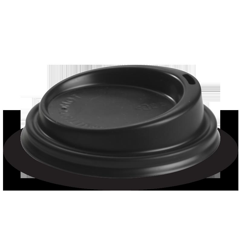 6, 8, 10 &12oz PS Small Lid Black - BioPak
