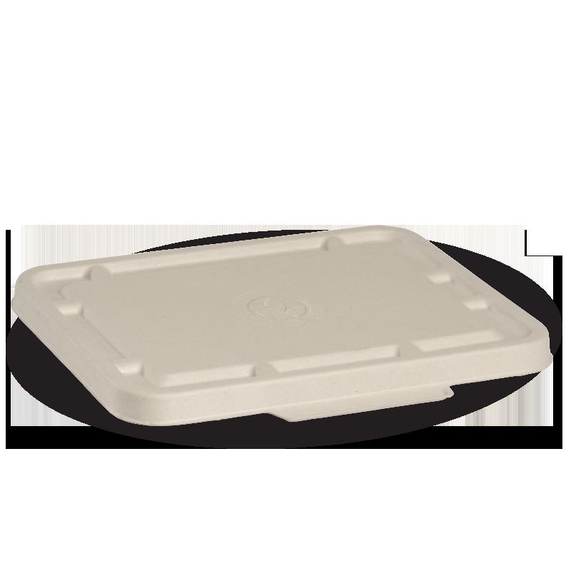 2 & 3 Compartment Natural BioCane Takeaway Lid - BioPak