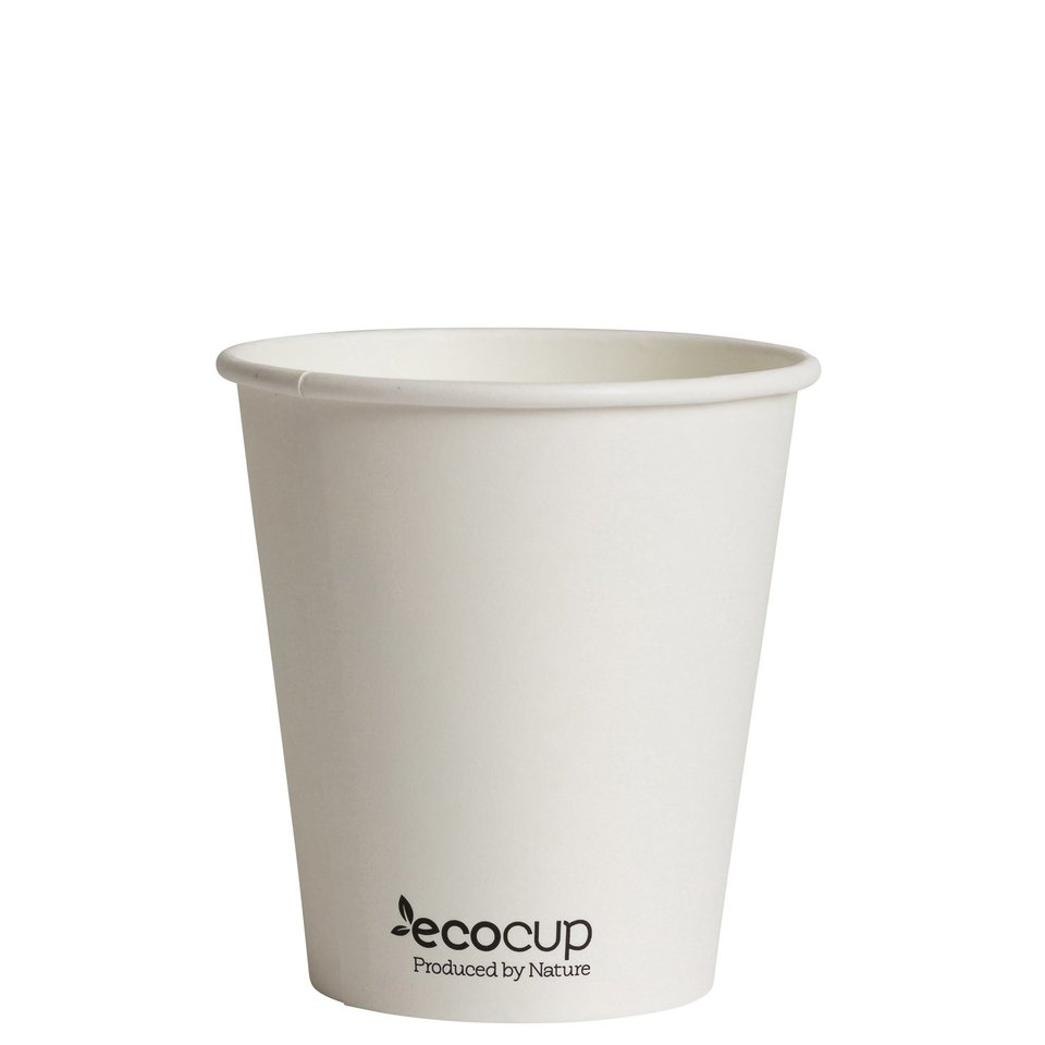 Hot Cup PLA Single Wall 10oz White (90mm) - Ecoware