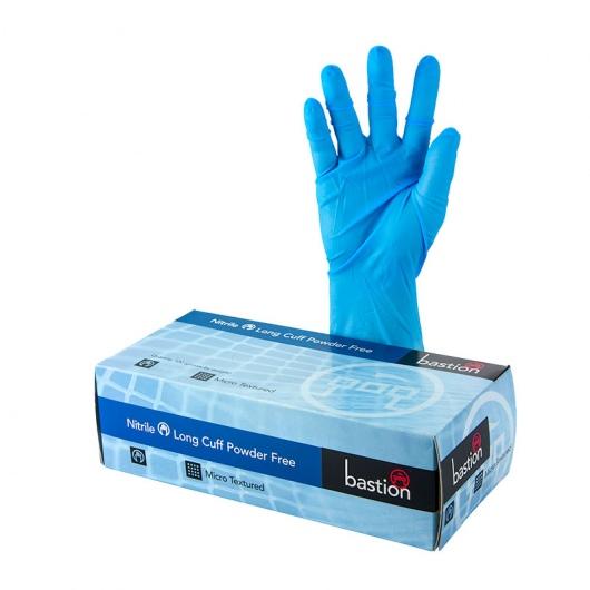 Bastion Nitrile PowderFree Gloves 300mm Cuff SMALL - UniPak