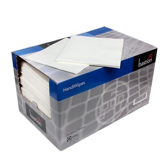 Bastion Dry Handi-Wipes White - UniPak