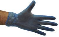 Vinyl Gloves Blue - Powdered SMALL - Selfgard