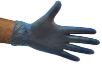 Vinyl Gloves Blue - Powder Free MEDIUM - Selfgard
